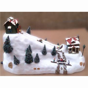 18音Mr Christmas发光溜冰滑雪八音盒音乐盒圣诞节日礼物创意礼品摆件