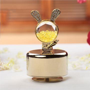 立体小兔小鱼小动物香薰音乐盒八音盒节日礼物结婚生日情人节礼品创意
