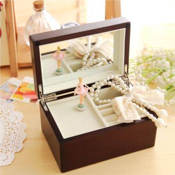 进口SANKYO跳舞芭蕾女孩音乐盒八音盒创意情人节生日礼物送女友闺蜜纯机械