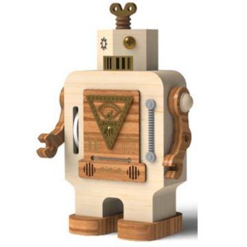 jeancard台湾木质机器人八音盒音乐盒情人节礼物送男友生日创意礼品