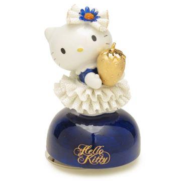 日本进口Hello Kitty旋转陶瓷八音盒音乐盒创意生日礼物 Sanrio限量版