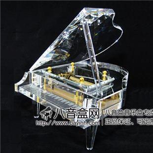 雷曼士50音水晶钢琴八音盒音乐首饰盒Y50C20高档创意送女商务领导礼物