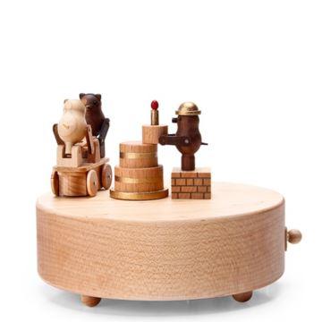 Jeancard台湾枫木质18音音乐盒八音盒生日蛋糕创意生日礼物情人节礼品