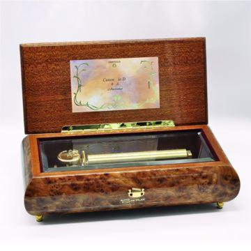 日本Sankyo72音木质八音盒音乐盒创意生日礼物结婚庆礼品高档收藏品