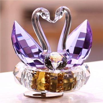 18音水晶天鹅八音盒音乐盒结婚庆创意生日礼物送男女生日礼品特别摆件