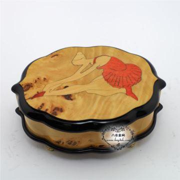 雷曼士木质30音八音盒音乐盒Y30MS4-B创意送女生日特别礼物可定制精品