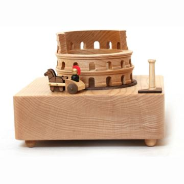 jeancard台湾木质古罗马八音盒音乐盒送女友女生创意生日礼物家居摆件
