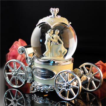 18音旋转发光飘雪花马车水晶球八音盒音乐盒创意生日情人节结婚礼物