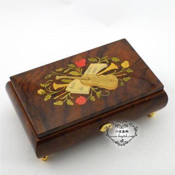 雷曼士50音木质首饰音乐盒八音盒Y50MS2-A高档创意送女商务领导礼物精