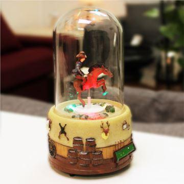 Sankyo18音西部牛仔骑马斗牛士音乐盒八音盒创意生日礼物精品送男女友