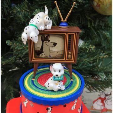 美国ENESCO忠实狗八音盒音乐盒创意生日礼物特别礼物古董收藏品1992