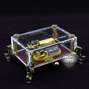雷曼士30音水晶八音盒音乐盒Y30LC1可定制高端大气创意商务礼物摆件精