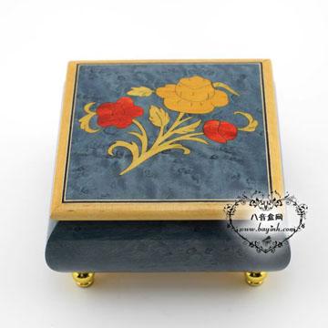 雷曼士18音木质八音盒音乐盒YB8MS1-D创意送闺蜜女生日礼物精品可定制