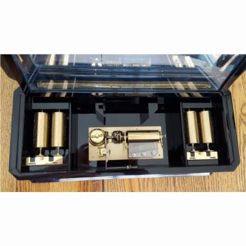 瑞士原装御爵REUGE50音5机芯精品原木雕花八音盒音乐盒 5首曲目 二手