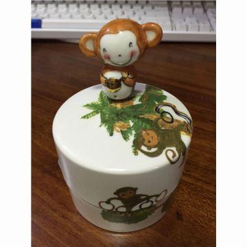 正品的韩国Moony Orgel生肖猴八音盒音乐盒首饰盒陶瓷制创业新年生日儿童礼物