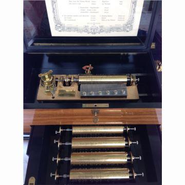 正品瑞士原产Reuge御爵72音原木八音盒音乐盒 可换轴西洋古董收藏 高档礼品