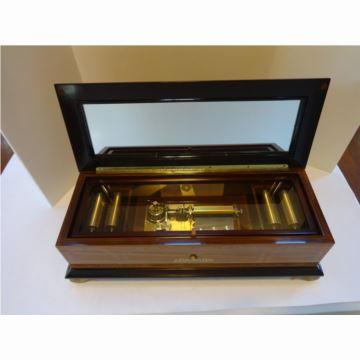 正品瑞士原产Reuge御爵52音原木八音盒音乐盒 可换轴西洋古董收藏 高档礼品