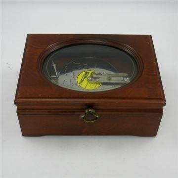 正品瑞士Reuge御爵八音盒AD30碟片式原木音乐盒欧洲西洋古董收藏 高档礼品 品相完好