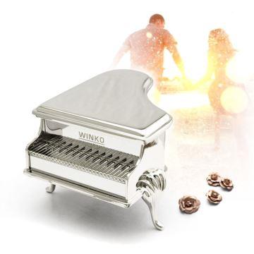 WINKO纯金属锌合金音乐盒钢琴八音盒送女生生日礼物女友结婚礼品创意首饰盒