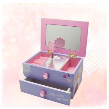 Ilovest18音木质迪士尼首饰盒收纳盒音乐盒八音盒创意生日礼物送女孩