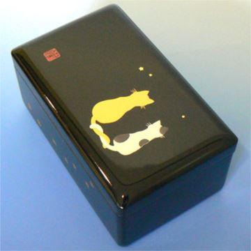 日本进口Sankyo30音手绘猫咪高档木质首饰盒八音盒音乐盒创意生日礼物