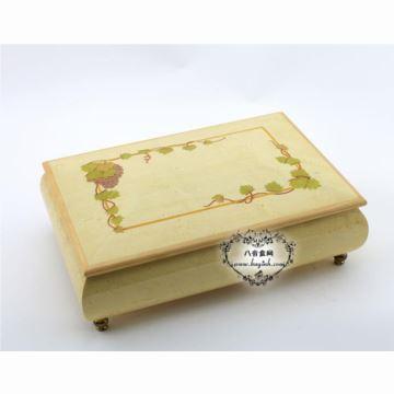 雷曼士木质30音首饰八音盒音乐盒Y30M100-B1创意送女生日礼物可定制精