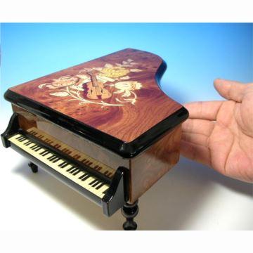 日本进口Sankyo30音高档木质钢琴八音盒音乐盒情人节创意生日结婚礼物