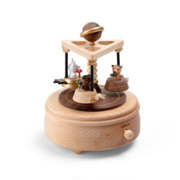 台湾jeancard欢乐碰碰车音乐盒木质旋转八音盒创意生日礼物送爱人闺蜜孩子礼品