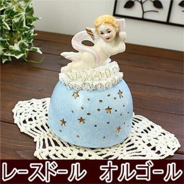 日本进口Sankyo18音陶瓷玩偶旋转八音盒音乐盒创意生日礼物送男女朋友