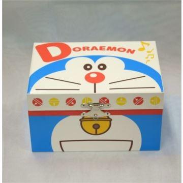 日本进口Sankyo18音木制多啦A梦首饰盒八音盒音乐盒创意生日礼物