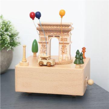 ILOVEST枫木木质凯旋门旋转八音盒音乐盒 摆件创意生日礼物送闺蜜朋友
