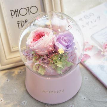 ILOVEST玻璃水晶球八音盒音乐盒花创意生日结婚礼物 送老婆男女生