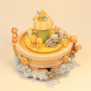 动物王国音乐盒旋转狮子猴子大象麻雀船八音盒创意礼物送男孩女孩小朋友生日特别