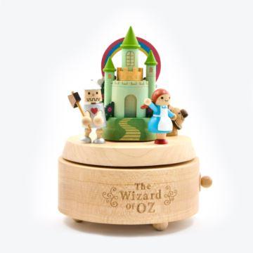 Jeancard台湾木质旋转绿野仙踪八音盒音乐盒创意生日结婚礼物送男女生