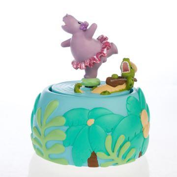 ILOVEST陶瓷旋转河马八音盒音乐盒创意生日圣诞节礼物送男女朋友
