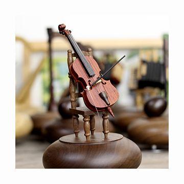 日本进口sankyo18音高档木质小提琴八音盒音乐盒创意结婚生日礼物