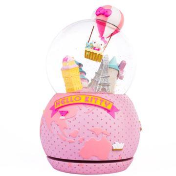 Hellokitty飘雪花旋转水晶球八音盒音乐盒创意生日情人节礼物送女友