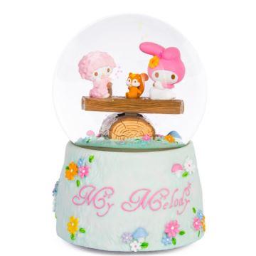 Jarll Hellokitty飘雪花跷跷板水晶球八音盒音乐盒生日情人节礼物送女生