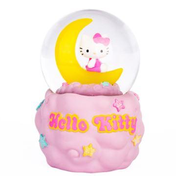 Jarll Hellokitty飘雪花月亮水晶球创意生日礼物送女生儿童摆件