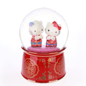 Jarll Hellokitty漂亮片陶瓷水晶球八音盒音乐盒创意生日结婚新年礼物