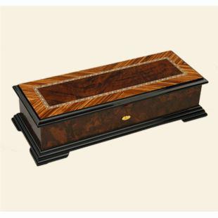 雷曼士木质156音八音盒音乐盒八骏图高档中国风创意商务送领导礼物Y156M1