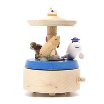 Jeancard木质海底游乐园旋转八音盒音乐盒创意生日情人节礼物送男女