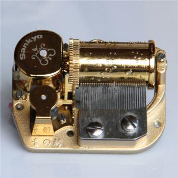 日本Sankyo镀金八音盒音乐盒机芯可用于Diy音乐盒发条式带配件
