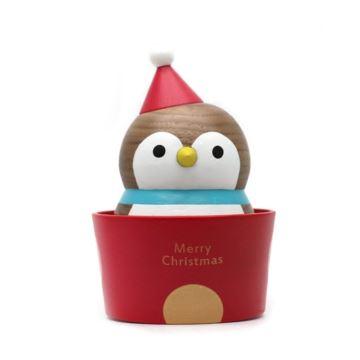 Jeancard台湾木质旋转八音盒音乐盒企鹅杯子蛋糕创意生日礼物送男女生