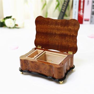 RHYMES雷曼士18音木制首饰盒八音盒音乐盒首饰盒创意生日结婚礼物送女生