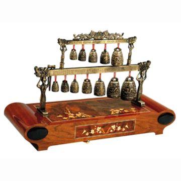 雷曼士78音木质编钟音乐盒八音盒Y78F6高端大气中国风创意礼物精品商务